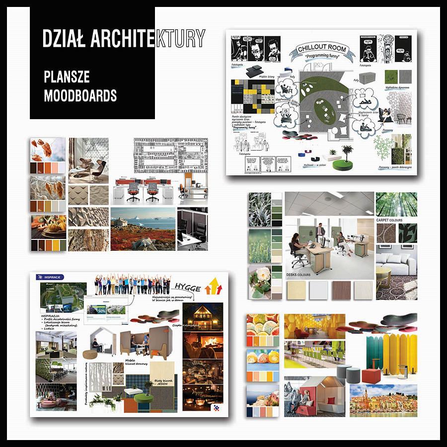 Architektura 01 MOODBOARDS copy - Projektowanie biur i aranżacja